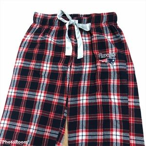 NFL team New England Patriots plaid lounge pants M